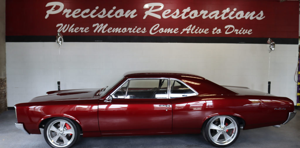 a full car restoration was performed on this classic muscle car